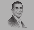 Sketch of Former US President Barack Obama