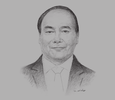 Sketch of Nguyen Xuan Phuc, Prime Minister of the Socialist Republic of Vietnam