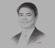 Sketch of Tran Manh Hung, Chairman of the Member's Council, Vietnam Posts & Telecommunications Group