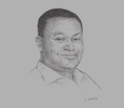 Sketch of Peter Kimanga, Director, Gold Crown Beverages