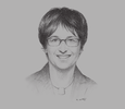 Sketch of Brigitte Zypries, Federal Minister of Economic Affairs and Energy of Germany