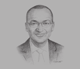 Sketch of Patrick Njoroge, Governor, Central Bank of Kenya (CBK)