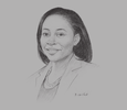 Sketch of Phyllis Wakiaga, CEO, Kenya Association of Manufacturers (KAM)