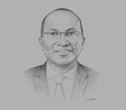 Sketch of Mike Macharia, Founder and Group CEO, Seven Seas Technologies