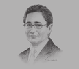 Sketch of Mohamed Fadhel Abdelkefi, Minister of Development, Investment and International Cooperation