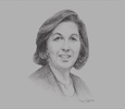 Sketch of Lamia Boujnah Zribi, Former Minister of Finance