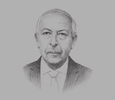 Sketch of Chedly Ayari, Governor, Central Bank of Tunisia (Banque Centrale de Tunisie, BCT)