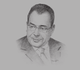 Sketch of Ahmed El Karm, President, Tunisian Professional Association of Banks and Financial Institutions