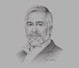 Sketch of Abdelmajid Ezzar, President, Tunisian Union of Agriculture and Fisheries