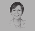 Sketch of Maria Cristina Coronel, President, Pointwest Technologies