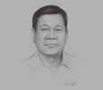 Sketch of President Rodrigo Duterte
