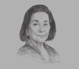 Sketch of Helen Y Dee, Chairperson, RCBC