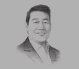 Sketch of Bernie H Liu, Chairman and CEO, Golden ABC
