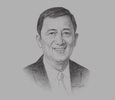 Sketch of Guido Alfredo Delgado, President and CEO, Emerging Power Incorporated