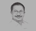 Sketch of Emmanuel F Piñol, Secretary, Department of Agriculture