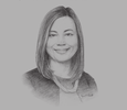 Sketch of Rachel Lomibao, CEO, Monsanto Philippines