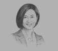 Sketch of Jikyeong Kang, President and Dean, Asian Institute of Management (AIM)