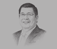 Sketch of Dr Edgardo R Cortez, President and CEO, St Luke's Medical Centre