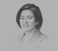 Sketch of Marivic Españo, Chairperson and CEO, P&A Grant Thornton