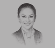 Sketch of Sylvette Tankiang, Senior Partner, V&A Law