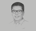 Sketch of Anthony del Rosario, Governor, Province of Davao del Norte