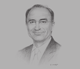 Sketch of Xavier Rolet, CEO, London Stock Exchange Group (LSEG)