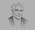 Sketch of Indrajith Coomaraswamy, Governor, Central Bank of Sri Lanka
