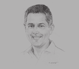 Sketch of Hiran Cooray, Chairman, Jetwing