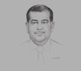 Sketch of Jayantha Karunaratne, Chairman, Tea Exporters Association
