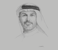 Sketch of Khaldoon Khalifa Al Mubarak, CEO and Managing Director, Mubadala Investment Company