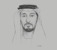 Sketch of Sheikh Abdulla bin Mohammed Al Hamed, Chairman, Regulation and Supervision Bureau