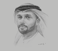 Sketch of Saeed Ghumran Al Remeithi, CEO, Emirates Steel