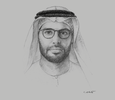 Sketch of Mohamed Khalifa Al Mubarak, CEO, Aldar