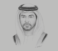 Sketch of Sheikh Hamdan bin Zayed Al Nahyan, Ruler's Representative in the Al Dhafra Region
