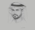 Sketch of Saif Saeed Ghobash, Director-General, Abu Dhabi Tourism & Culture Authority (TCA Abu Dhabi)
