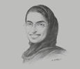 Sketch of Noura Al Kaabi, Chairwoman, Abu Dhabi National Exhibitions Company (ADNEC)