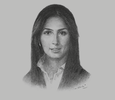 Sketch of Razan Khalifa Al Mubarak, Secretary-General, Environment Agency - Abu Dhabi (EAD)