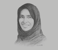 Sketch of Maryam AlMheiri, CEO, twofour54
