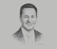 Sketch of Steven Ciobo, MP and Minister for Trade, Tourism and Investment of Australia