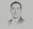 Sketch of Luis Rivera, Vice-President, Gold Fields Las Americas