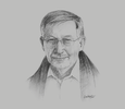 Sketch of Michael Michell, Executive President, Michell Group
