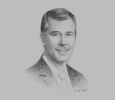 Sketch of Miguel Uccelli, CEO and Country Head, Scotiabank Peru