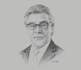 Sketch of Rafael Mejía López, President, Colombia Commodities Exchange