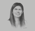 Sketch of Marta Losada, President, Antonio Nariño University