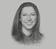 Sketch of María Claudia Lacouture, Minister of Commerce, Industry and Tourism