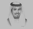 Sketch of Sheikh Meshaal Jaber Al Ahmad Al Sabah, Director-General, Kuwait Direct Investment Promotion Authority (KDIPA)