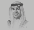 Sketch of Mohammad Y Al Hashel, Governor, Central Bank of Kuwait (CBK)