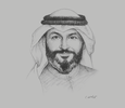 Sketch of Khaled Abdulrazzaq Al Khaled, Vice-Chairman and CEO, Boursa Kuwait