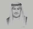 Sketch of Yasser Hassan Abul, Minister of State for Housing Affairs