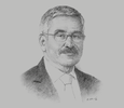 Sketch of Adnan Shihab-Eldin, Director-General, Kuwait Foundation for the Advancement of Sciences (KFAS)